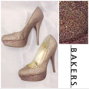 Bakers Multi Glitter Platform Pumps Victoria G
